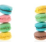 Cadre of macaroons Stock Photos