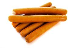 sausages for hot dogs - stock photo