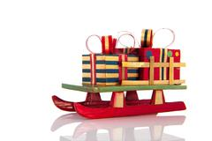 christmas sledge - stock photo