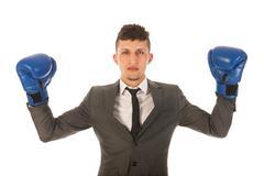 aggressive businessman - stock photo