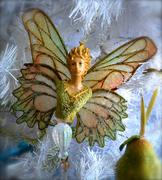butterfly angel ornament - stock photo