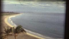 1950's & 60's  vintage ,empty beach Stock Footage