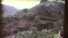 1960's  vintage, Iao Valley Needle Maui Stock Footage