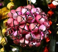 Magenta bells ornament Stock Photos