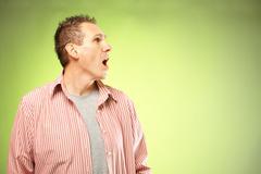 Screaming man Stock Photos