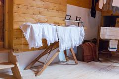 Ironing antique underwear Stock Photos
