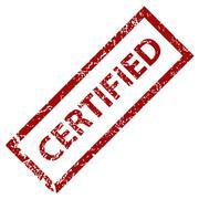 Grunge certified stamp - stock illustration
