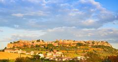 Orvieto medieval town panoramic view. italy Stock Photos