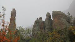 Strange shapes of Belogradchik Rocks Stock Footage