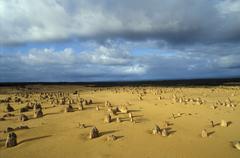 Australia. Nambung, The Pinnacles desert - stock photo