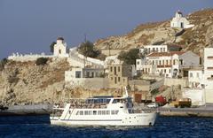 Greece, Dodecanese Islands, Karpathos, the harbour - stock photo