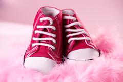 Cute baby shoes Stock Photos