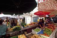 Stock Photo of Croatia, Biograd, the market