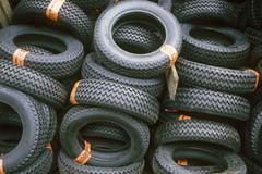 Car tyres Stock Photos