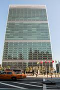 united nations headquarter in new york city - stock photo