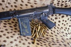 FNA assault rifle cal. 7,62 - stock photo