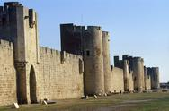 Stock Photo of France, Camargue, Aigues Mortes, city walls