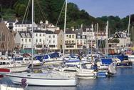 Stock Photo of UK, Jersey Channel Islands, Town of St. Aubin. The harbour