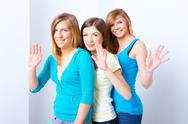 Stock Photo of three girls friendship