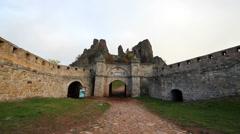Belogradchik fortress entrance Stock Footage