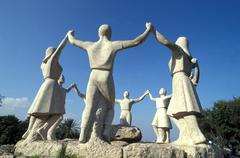 Spain, Barcelona, The Sardana statue Stock Photos