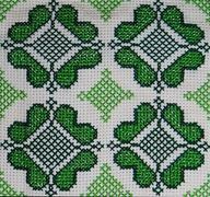 palestinian cross-stitch embroidery 1 - stock photo