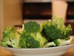 cut broccoli - stock photo