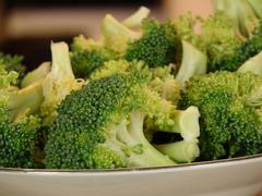 Cut broccoli 2 - stock photo