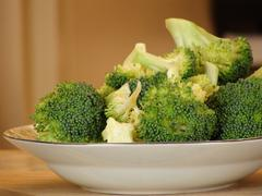 Cut broccoli 3 - stock photo