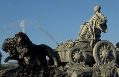 Spain, Madrid, Cibeles Monument - stock photo