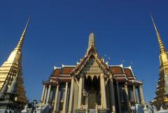 Thailand. Bangkok. Grand Palace and Emerald Buddha temple Wat Phra Kaeo - stock photo