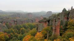 Splendid autumn landscape at Belogradchik rocks Stock Footage