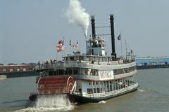 USA, Louisiana, New Orleans Paddle steamer Stock Photos