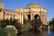 Stock Photo of USA, California, San Francisco, Palace of Fine Arts and pond