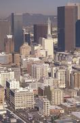 USA California Los Angeles aerial view - stock photo