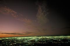 USA, Arizona, Phoenix yöllä Kuvituskuvat