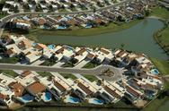 Stock Photo of USA, Arizona, Phoenix, suburb residential village