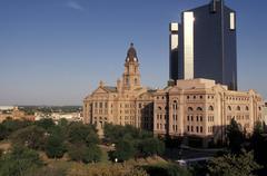 USA, Texas, Fort Worth, keskustan Kuvituskuvat