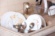Stock Photo of dirty dishes
