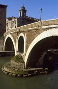 Lazio, Rome, the Tiberina Island,on the Tiber river - stock photo
