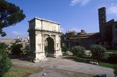Italy, Rome the Tito Arch at the Fori Imperiali - stock photo
