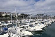 Stock Photo of UK, Channel Islands, Guernsey, St. Peter Port harbour