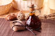 Stock Photo of vanilla extract and beans