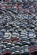 New cars in parking - stock photo