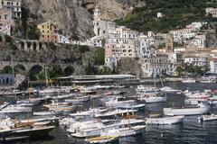 Italy, Campania, Amalfi the harbour - stock photo