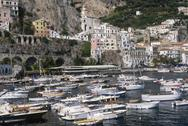 Stock Photo of Italy, Campania, Amalfi the harbour