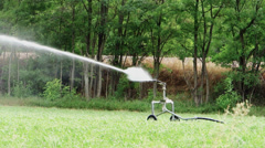 Agriculture, automatic irrigation Stock Footage