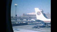 Cairo 1980: the airport Stock Footage