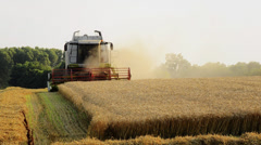 Agriculture, combine harvester Stock Footage