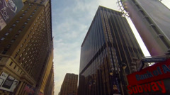 Sun hitting side of building - stock footage